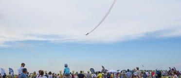 Povos no airshow Aeromania, Tuzla, Romênia Fotografia de Stock
