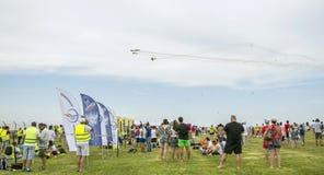 Povos no airshow Aeromania, Tuzla, Romênia Fotografia de Stock Royalty Free