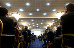 Povos no centro de conferências Fotografia de Stock