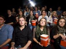 Povos no cinema Imagens de Stock