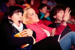 Povos no cinema Foto de Stock Royalty Free