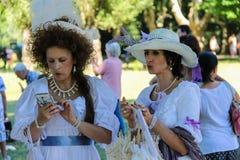 Povos no evento de Napoleonica Representação trajada em magnific Fotografia de Stock