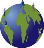 Povos no globo Foto de Stock Royalty Free