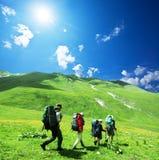 Povos no hike Imagens de Stock Royalty Free
