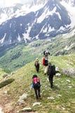 Povos no hike imagem de stock royalty free