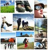 Povos no hike Fotografia de Stock Royalty Free