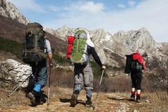 Povos no hike Foto de Stock Royalty Free