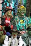 Povos no Jack no festival verde Fotografia de Stock