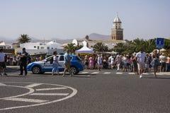 Povos no mercado de teguise em lanzarote um das Ilhas Canárias foto de stock