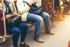 Povos no metro Imagens de Stock Royalty Free