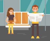 Povos no metro Ilustração Imagem de Stock Royalty Free