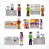 Povos no supermercado ilustração do vetor
