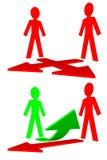 Povos no trabalho - conflito e solução Foto de Stock Royalty Free