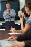 Povos no treinamento do negócio Foto de Stock Royalty Free