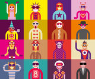 Povos nos óculos de sol - retratos engraçados Fotografia de Stock Royalty Free