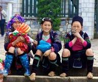 Povos pretos da minoria étnica de H'mong Imagens de Stock
