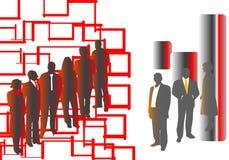 Povos pretos e vermelhos Fotografia de Stock