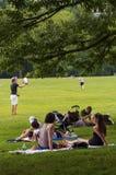 Povos que apreciam um dia ensolarado no Central Park na cidade de New York Imagem de Stock Royalty Free