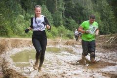 Povos que correm durante o jogo militar da competição do esporte Fotografia de Stock Royalty Free