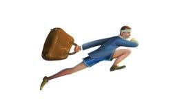 Povos que correm no Rio com dia ensolarado da bagagem Fotografia de Stock