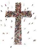 Povos que encontram a cristandade, a religião e a fé Imagens de Stock