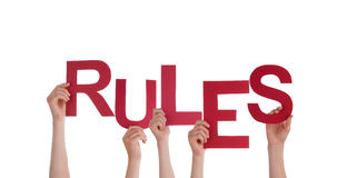 Povos que guardam regras fotos de stock royalty free