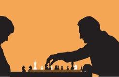 Povos que jogam a xadrez ilustração stock