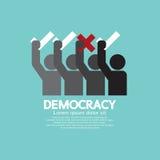 Povos que não mostram o voto sim e o nenhum conceito da democracia ilustração do vetor