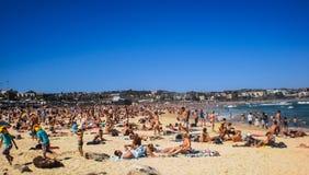 Povos que relaxam na praia de Bondi Imagem de Stock