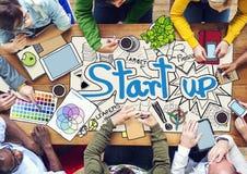 Povos que trabalham com negócio Startup Fotografia de Stock