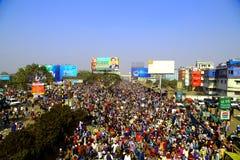 Povos que vão à assembleia global de Ijtema Fotos de Stock