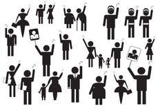 povos que votam em eleições ilustração stock