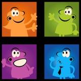 Povos retros dos desenhos animados Fotos de Stock Royalty Free
