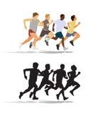 Povos running Fotografia de Stock Royalty Free