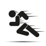 Povos running no movimento Símbolo simples da corrida Fotografia de Stock Royalty Free