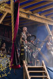 Povos, salesstands e impressões gerais do festival medieval da idade no lago Murner em Wackersdorf, Baviera 10 de maio de 2016 Fotos de Stock Royalty Free