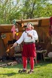 Povos, salesstands e impressões gerais do festival medieval da idade no lago Murner em Wackersdorf, Baviera 10 de maio de 2016 Fotografia de Stock Royalty Free