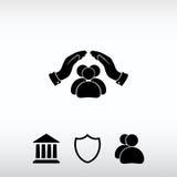 Povos seguros, ilustração do ícone do vetor Estilo liso do projeto Foto de Stock