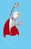 Povos simples - super-herói ilustração royalty free
