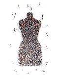 Povos sob a forma de um manequim fêmea ilustração royalty free