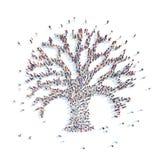 Povos sob a forma de uma árvore Imagens de Stock Royalty Free