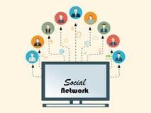 Povos sociais dos trabalhos em rede Ilustração do Vetor