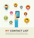 Povos sociais dos trabalhos em rede conceptuais Imagens de Stock Royalty Free