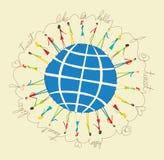 Povos sociais globais dos media Fotos de Stock