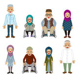 Povos superiores ajustados - muçulmanos ilustração do vetor