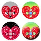 Povos tradicionais Art Heart Fotografia de Stock Royalty Free