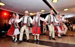 Povos tradicionais romenos Foto de Stock