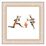 Povos tribais antigos, quadro étnico do ornamento para Imagem de Stock Royalty Free