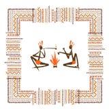 Povos tribais antigos, quadro étnico do ornamento para Imagem de Stock