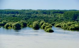 Powódź blisko Novi Sad obraz royalty free